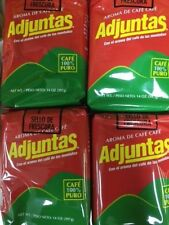 4 PACK CAFE ADJUNTAS  COFFEE PUERTO RICO BRAND MOLIDO GROUND 14oz  FREE SHIPPING
