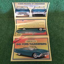 "Danbury Mint ""1961 Ford Thunderbird Retirement.""  Brochure!"