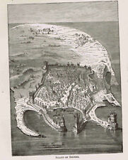 Island of Rhodes in the Greece Ancient World -1882 Page of History