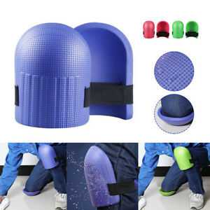 1Pair Foam Knee Pads Thick Soft Non-Slip Work Knee Protector w/ Adjustable Strap