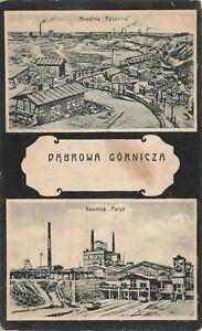 Postcard Ephemera Dabrowy Dąbrowa Górnicza Warshaw Poland Polish POL Kapalnia