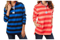 Southern Tide Women's Nautical Striped Skiptide Rugby Pullover Long Sleeve Shirt