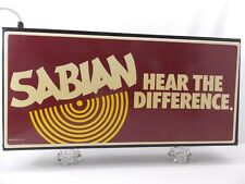 SABIAN CYMBAL CO SIGN 1990 Vintage Illuminated Music Store Stage Crew READ VIDEO