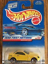 1998 Hot Wheels First Edition #11 Mercedes SLK with 5-hole wheels - RARE - VHTF