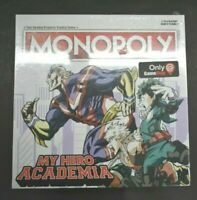 New Sealed My Hero Academia Monopoly Game Stop Exclusive Board Game Ages 8+