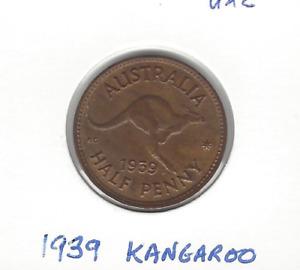1939 (Kangaroo) Halfpenny Unc