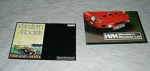 WESTERN MODELS WHITE METAL FULLY BUILT OR KITS  MODEL CARS CATALOGUES (2)