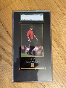 1997 Tiger Woods grand slam ventures RC. SGC8. NM/MT