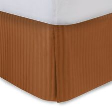 Sateen Stripe Tailored Bed Skirt, 300 Thread Count, Amber and Lavender CLEARANCE