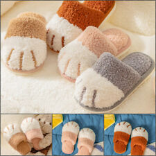 Kids Plush Paw Slippers Soft Winter Warm Indoor Home Shoes Boys Girls Footwear