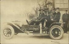 Muskogee OK Fire Engine Car Chief Dept 1910 Used Real Photo Postcard PIERSON
