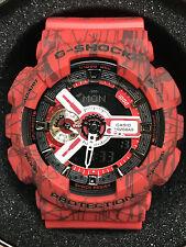 Casio G-Shock Men's Analog-Digital Black Strap Watch GA110SL-8A RED