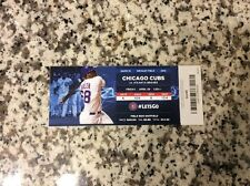 2016 Chicago Cubs Ticket Stub 4/29 Home Game 10 Franchise Record 17th Win In Apr