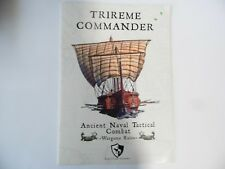 TRIREME COMMANDER -  (SOFTCOVER)  - WARGAMES RULES - NEW