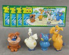 Satz Tierische Wasserspeier 2009 mit allen BPZ UeEi Kinder Zoo Spritztiere