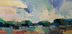 JOSE TRUJILLO Oil Painting IMPRESSIONISM Contemporary COLLECTIBLE Landscape NR