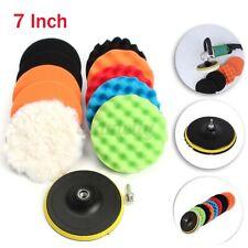 11 Pcs 7'' inch Buffing Sponge Polishing Pad Kit Set For Car Polisher Buffer