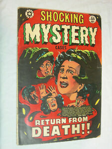 Shocking Mystery Cases #55 G+ L.B. Cole classic blood cover Return from death