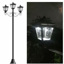 "72"" Solar Power Triple-Heads Street Vintage Lamp Post Light for Outdoor Garden"