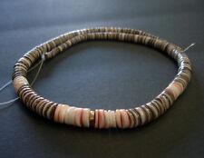 Graduated Black Olive Shell Heishi Beads (16 Inches Strand)