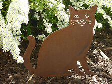 Edelrost Katze, Katzen, Rost, Eisen, Gartendekoration, Gartendeko. Gartenstecker