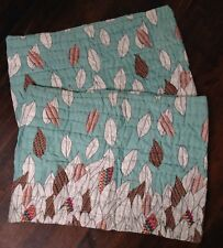 Urban Outfitters Falling Leaves Standard Shams Quilted Pillow Cover New Set of 2