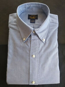 NWOT Brooks Brothers Own Make Blue Button Down 16-34.5 Large Slim MSRP $225