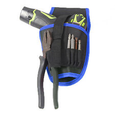 Cool Cordless drill Holder Tool Pouch For 12v Drill Waist Tool Bag Blue Fashion