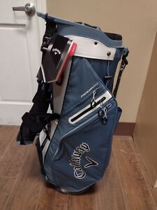 Callaway Fairway 14 Divider Golf Dual Strap Stand Bag Gray/Black/White New