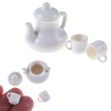 1:12 Dolls House Miniature Plastic Coffee Cups & Pot Set Kitchen Toy LC