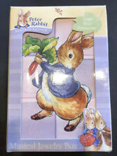 """Beatrix Potter's Peter Rabbit Musical Jewelry Box Plays """"Waltz of the Flowers.�"""