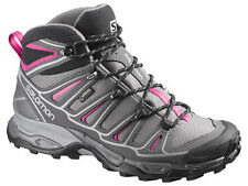 New Salomon L37147700 X Ultra Mid 2 Grey Pink Women's Hiking Trail Boots 7 US
