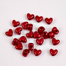 Red Pearl Heart shaped pony beads made USA for wedding decor hair school VBS