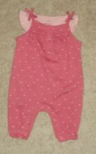 Carters Baby Girls Pink Gray Floral Overalls Pink Shirt Size 3 Months New