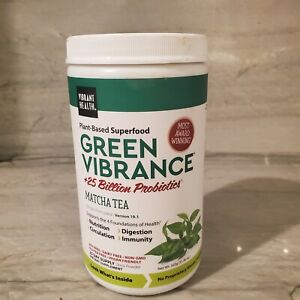 Vibrant Health Plant-Based Superfood Green Vibrance Matcha Tea 11.9 Oz EXP:08/22