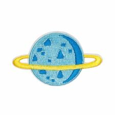 Other Blue Saturn Planet (Iron on) Embroidery Applique Patch Sew Iron Badge