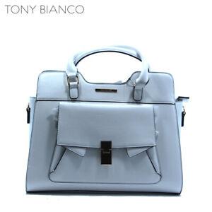 TONY BIANCO WHITE SATCHEL HANDBAG WOMENS LADIES GIRLS STUDENT FASHION BAG NEW
