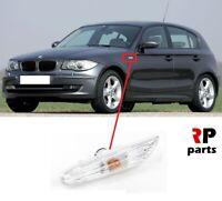 FOR BMW 1 SERIES E81 E82 E88 E87 NEW FENDER SIDE INDICATORS REPEATER WHITE LEFT