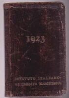 AGENDINA PUBBLICITARIA 1923 ISTITUTO ITALIANO DI CREDITO MARITTIMO