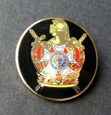THE ORDER OF DEMOLAY FRATERNAL MASONS LAPEL PIN BADGE 1 INCH