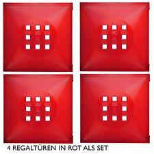 4er Set Tür Einsatz Ikea Regal Expedit Kallax Nornäs Facheinsatz mit Würfel* rot