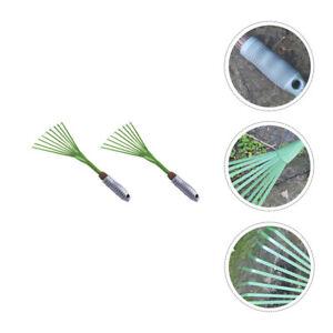 2Pcs Rake Claw Durable Heavy Duty Hand Cultivator Gardening Tool 9 Tines