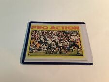 CALVIN HILL UNGRADED TOPPS 1972 #129 PRO ACTION NFL TRADING CARD