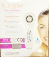 Conair Sonic Facial Brush Set True Glow Kit 4 Brushes Stand Storage Rechargeable