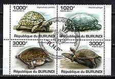 Animaux Tortues Burundi (173) série complète 4 timbres oblitérés