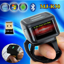 Wearable Bluetooth Ring Finger Laser Barcode Scanner Reader For Android iOS Win