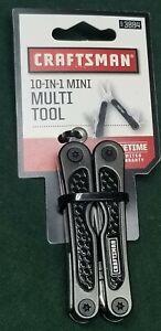 CRAFTSMAN 10-in-1 Mini MULTI TOOL Black 93884 Snips Knife Screwdriver Awl File