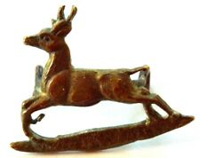 Vintage Wwi Royal Canadian Dragoons Collar Badge Pin Springbok Bounding