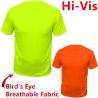 Safety Work Hi Vis High Visibility T Shirt Non ANSI Short Sleeve Neon Tee Shirts