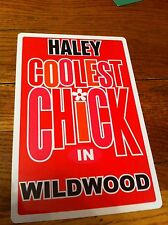 HALEY Coolest Chick In Wildwood New Jersey Personalized Wall Door Sign NJ N.J.